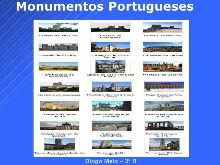 Monumentos Portugueses Diogo Melo – 3º B