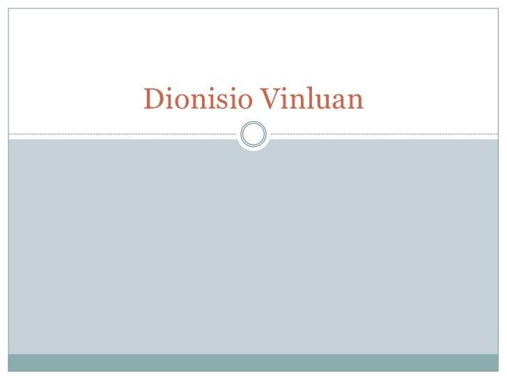 Dionisio Vinluan
