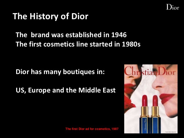 dior cosmetics history
