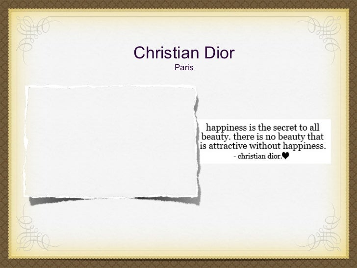 Christian Dior     Paris