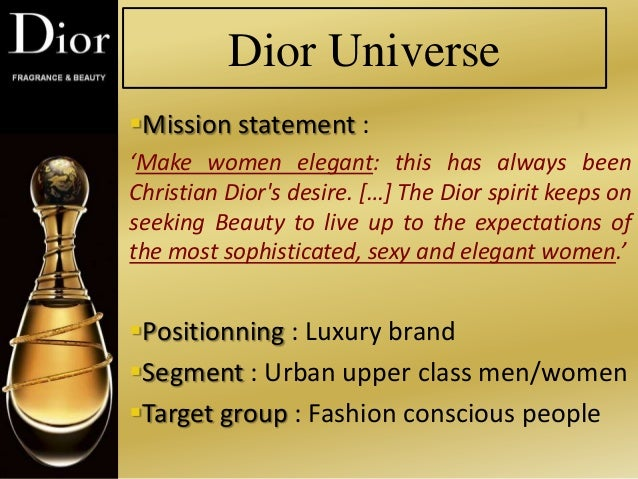 marketing on christian dior Marketing plan for perfume j'adore, by dior essay 1056 words | 5 pages my product: dior's perfume, j'adore 1 j'adore is a timeless fragrance by christian dior.