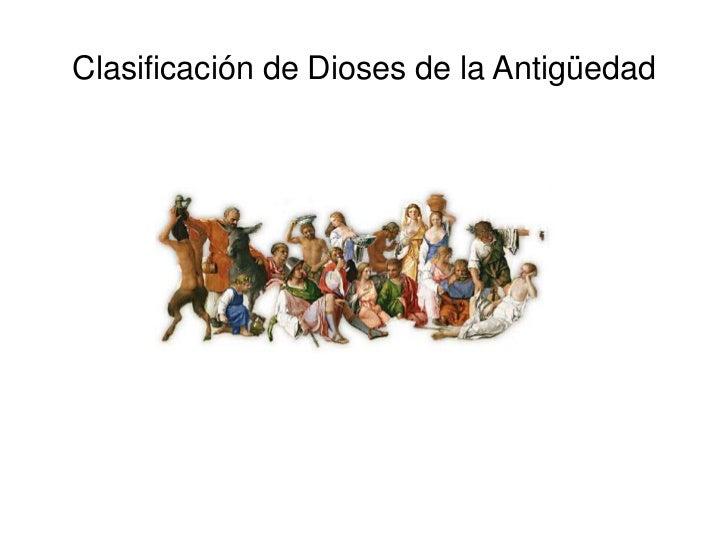 Clasificación de Dioses de la Antigüedad