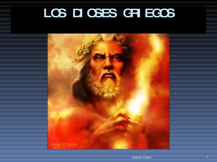LOS DIOSES GRIEGOS Marian Calvo