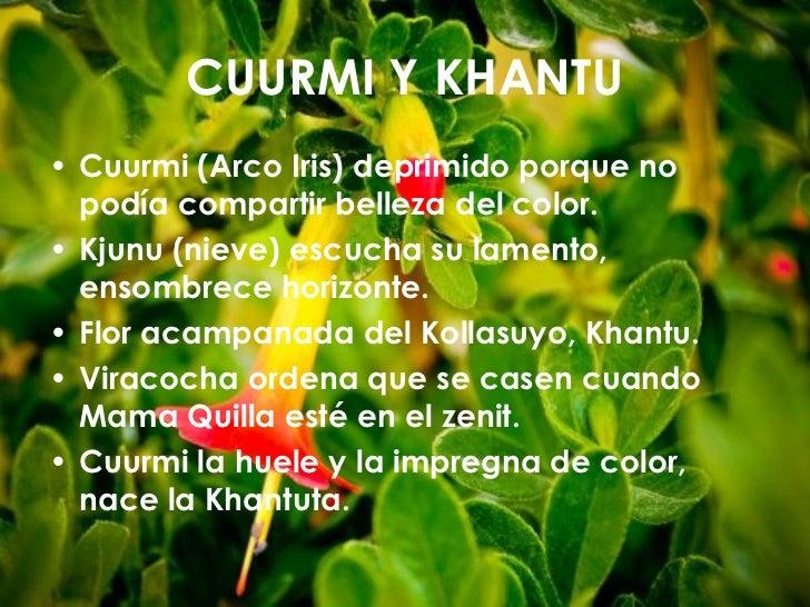 CUURMI Y KHANTU• Cuurmi (Arco Iris) deprimido porque no  podía compartir belleza del color.• Kjunu (nieve) escucha su lame...