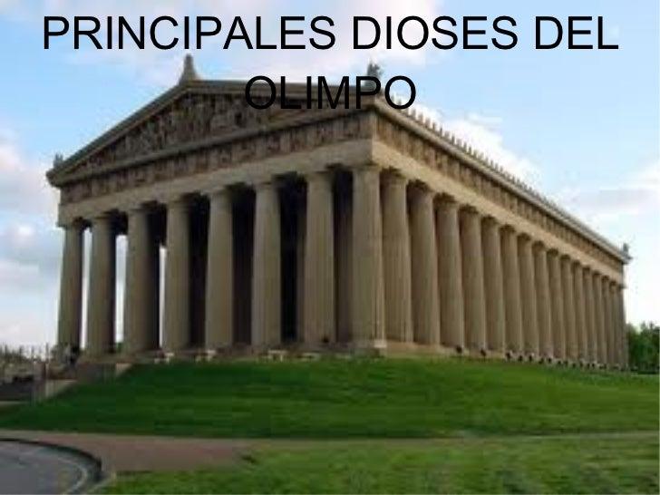 PRINCIPALES DIOSES DEL OLIMPO