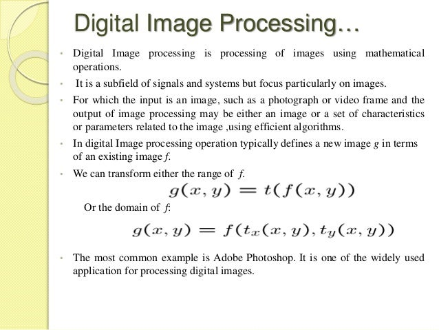 phd thesis in digital image processing What are the recent areas in image processing for a phd can you suggest some recent phd topics related to image processing or digital image processing.