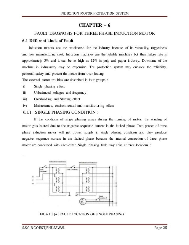 protection scheme of a 3-phase induction motor essay Executive summary  243 the scheme of the motor protection   time- overcurrent plot of single phase to ground fault on 4kv with relay in lv motor.