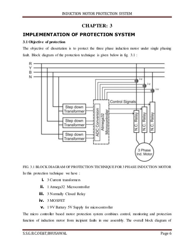 protection scheme of a 3-phase induction motor essay Introduction the modern society has come to depend heavily upon continuity and reliability of electricity computer and telecommunication networks, railway networks, banking and post offices networks, continuous process industries and life support systems are just a few applications that just cannot function without.