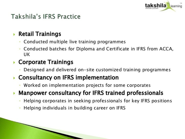 Diploma In Ifrs Online Lectures