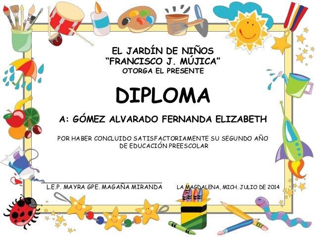 Diplomas preescolar for Grado medio jardin de infancia