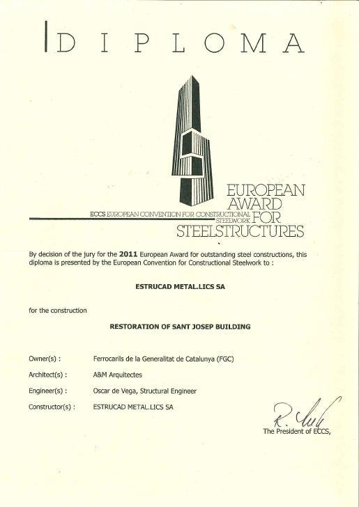ESTRUCAD eccs awards 2011diploma