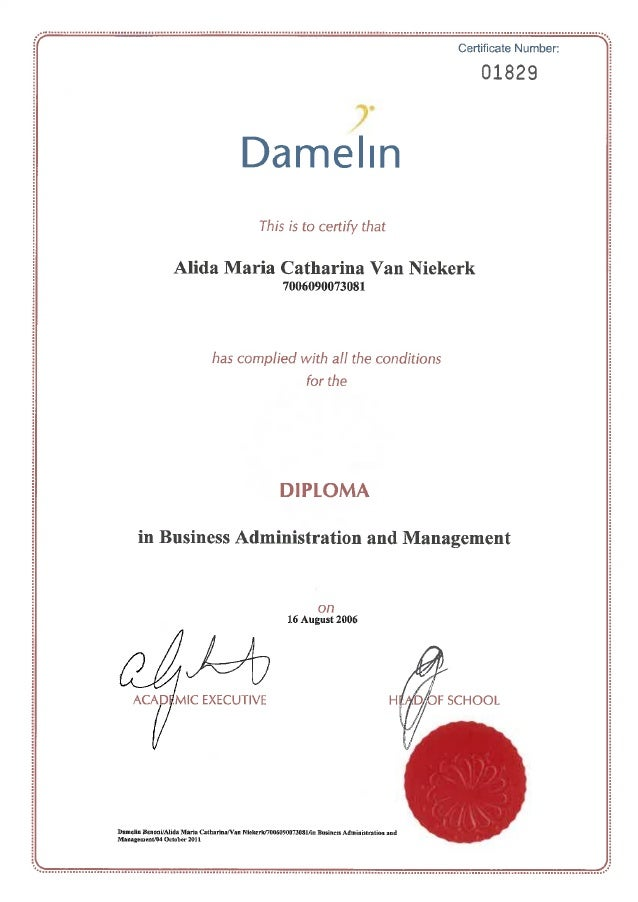 Diploma business administration and management