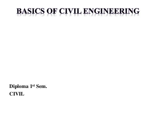 Diploma 1st Sem. CIVIL
