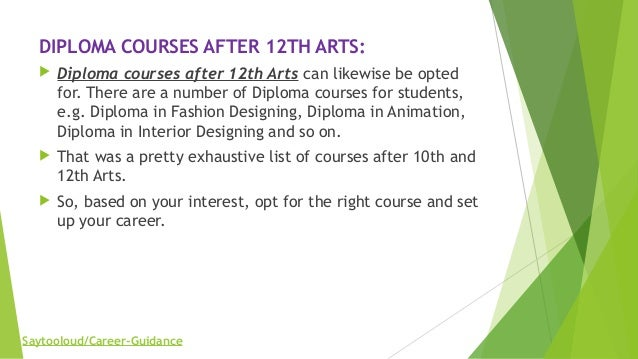 Diploma Courses After 10th And 12th Arts