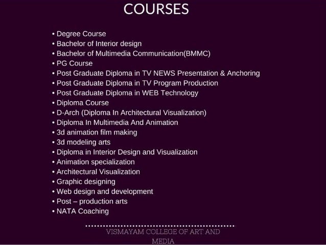 Vismayamvfx Bachelor Of Multimedia Communication