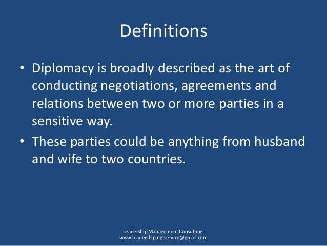 بلوچ 95 Diplomacy defined