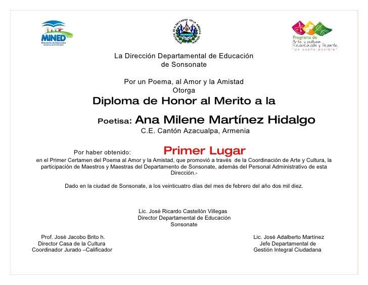 La Dirección Departamental de Educación                                                 de Sonsonate                      ...
