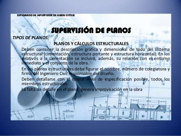 Diplomado de supervisi n de obras civiles sesi n 2 for Planos de obra civil