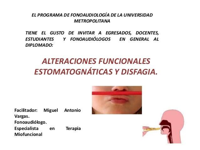 EL PROGRAMA DE FONOAUDIOLOGÍA DE LA UNIVERSIDAD METROPOLITANA  TIENE EL GUSTO DE INVITAR A EGRESADOS, DOCENTES, ESTUDIANTE...