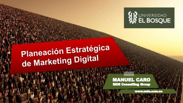 MANUEL CARO MDE Consulting Group www.mde.com.co