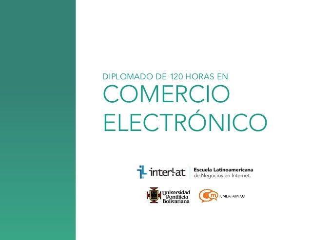 COMERCIO ELECTRÓNICO DIPLOMADO DE 120 HORAS EN