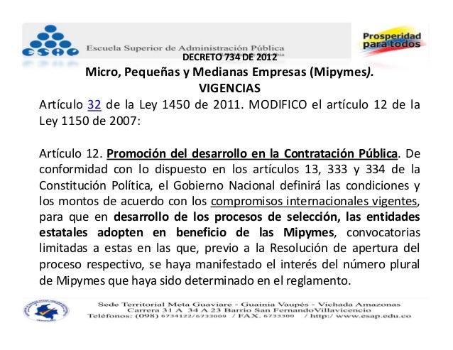 Decreto 734 de 2012 pdf contratacion
