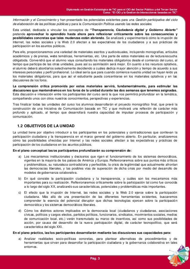 Guía de la Unidad 3 - Transparencia, Ciudadanía Digital y Gobierno Abierto Slide 3