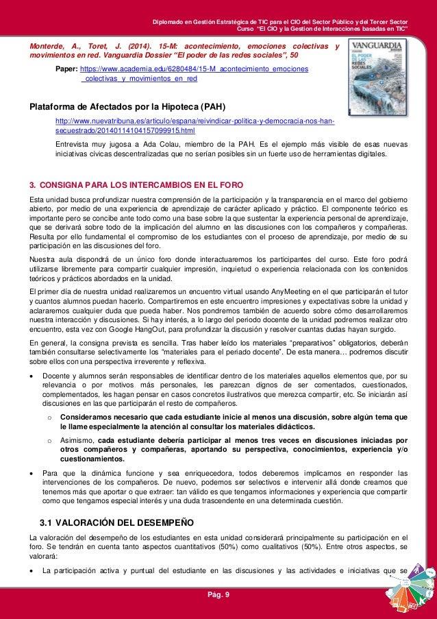 """Diplomado en Gestión Estratégica de TIC para el CIO del Sector Público y del Tercer Sector Curso """"El CIO y la Gestion de I..."""