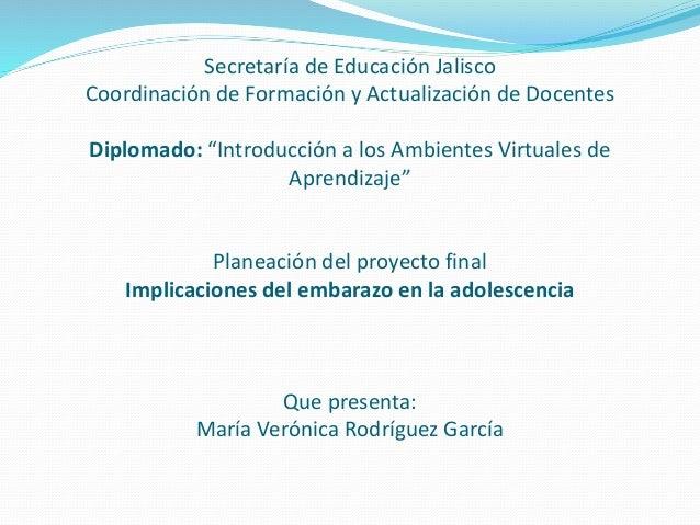 """Secretaría de Educación Jalisco Coordinación de Formación y Actualización de Docentes Diplomado: """"Introducción a los Ambie..."""