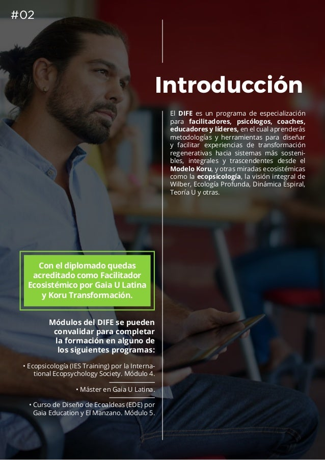 DIFE 2019: Diplomado Internacional de Facilitación Ecosistémica (Chile, España y Colombia). Slide 3