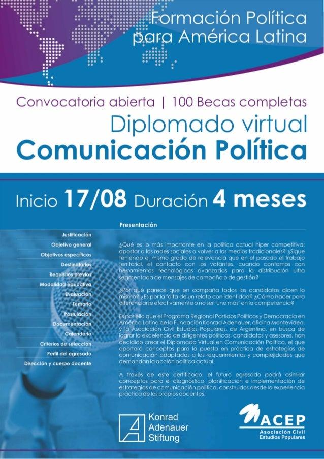 Diplomado virtual Comunicación Política - ACEP KAS 2015