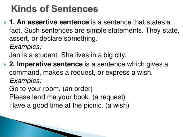 Diploma Engg Iv U 13 Assertive Imperative Exclamatory Sentences
