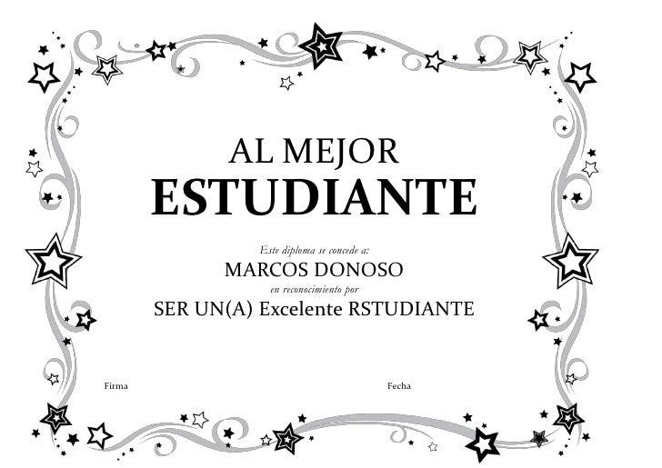 Diploma Al Mejor Estudiante