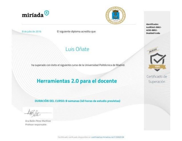 Certificado verificado disponible en certificados.miriadax.net/10242094