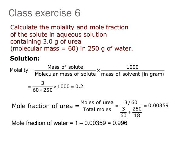 math worksheet : diploma i applied science chemistry u ii a preparation of solution : Mole Fraction Worksheet