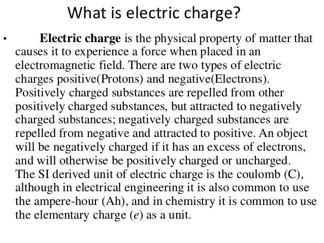 3 what is electric charge