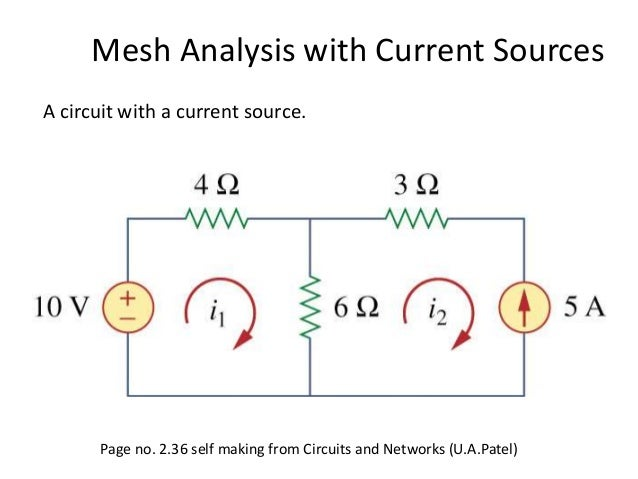 Mesh Analysis With Current Sources A Circuit