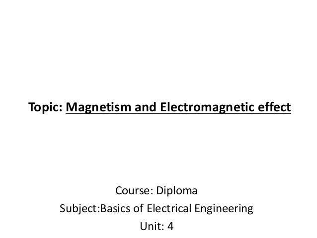 Basics of Magnetism