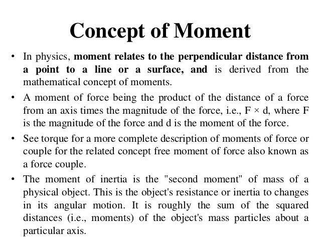 Diploma i em u iii concept of moment & friction
