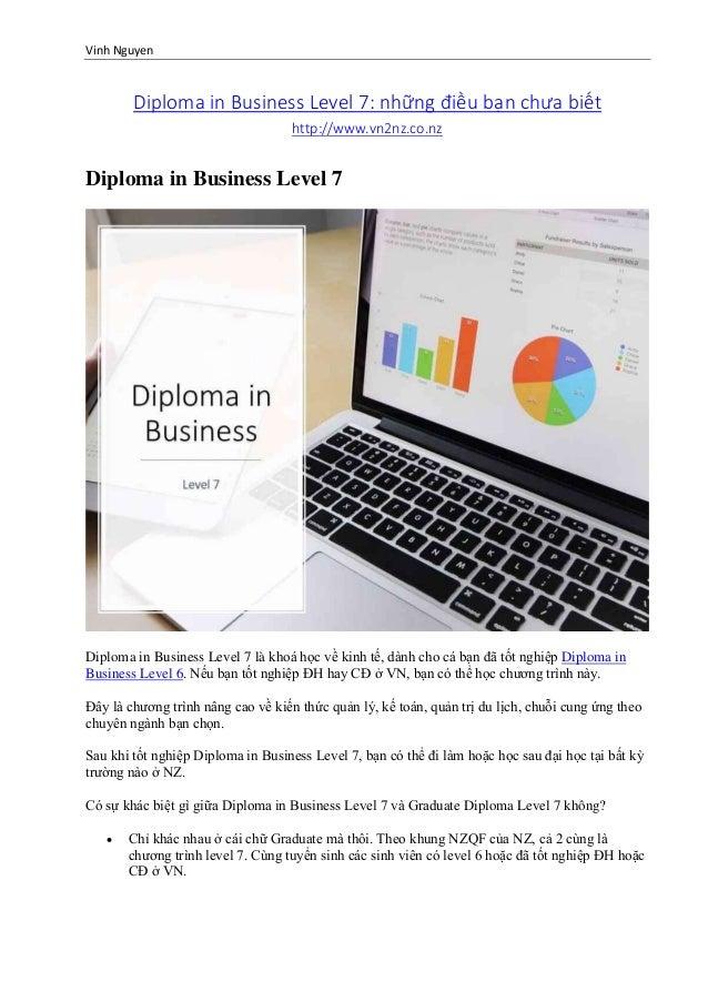 Vinh Nguyen Diploma in Business Level 7: những điều bạn chưa biết http://www.vn2nz.co.nz Diploma in Business Level 7 Diplo...