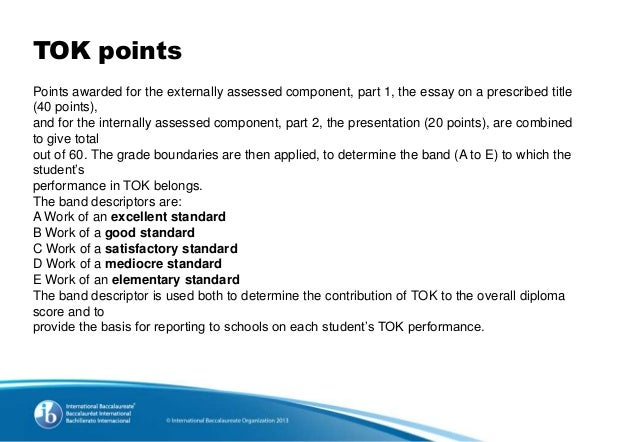 extended essay tok points