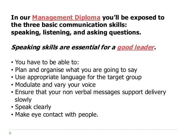 Diploma of Management - Three Basic Types of Human ... Types Of Human Communication