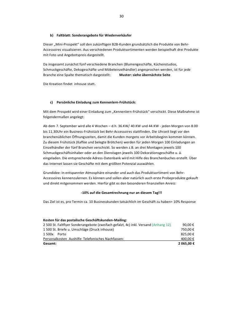Marketingkonzept Für Möbel Einzelhandel Behr Accessoires In Leverkuse