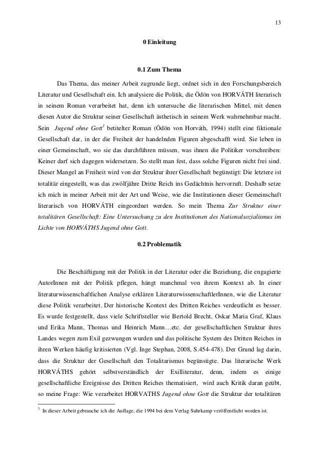 13 0 Einleitung 0.1 Zum Thema Das Thema, das meiner Arbeit zugrunde liegt, ordnet sich in den Forschungsbereich Literatur ...