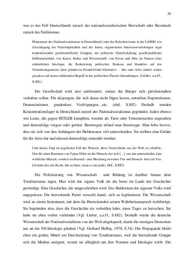 30 war es der Fall Deutschlands zurzeit der nationalsozialistischen Herrschaft oder Russlands zurzeit des Stalinismus: Phä...