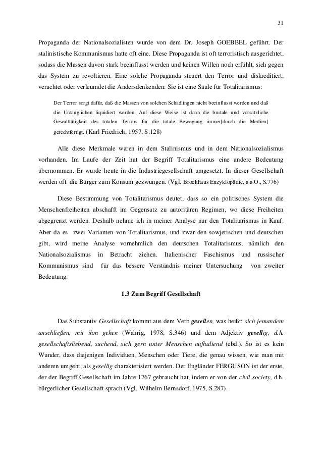 31 Propaganda der Nationalsozialisten wurde von dem Dr. Joseph GOEBBEL geführt. Der stalinistische Kommunismus hatte oft e...