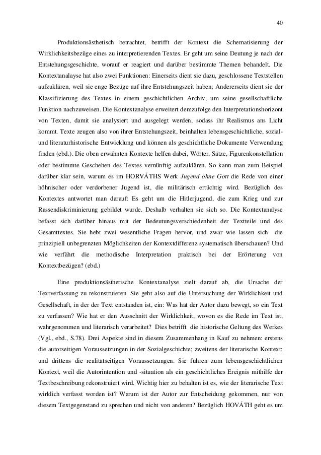 40 Produktionsästhetisch betrachtet, betrifft der Kontext die Schematisierung der Wirklichkeitsbezüge eines zu interpretie...
