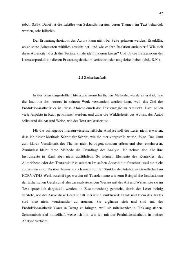 42 (ebd., S.83). Dabei ist die Lektüre von Sekundärliteratur, deren Themen im Text behandelt werden, sehr hilfreich. Der E...