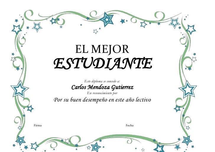 formato diploma de reconocimiento