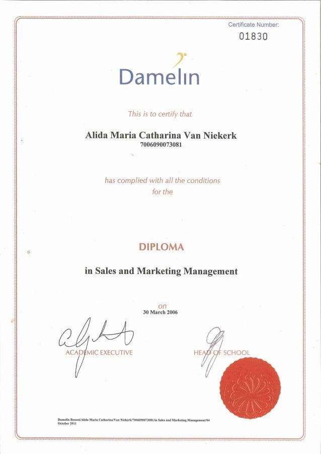 Diploma sales and marketing